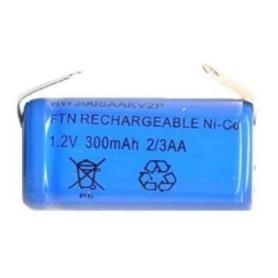 BATTERIA RICARICABILE NI-CD 2TERZI AA 1,2V 300mAh