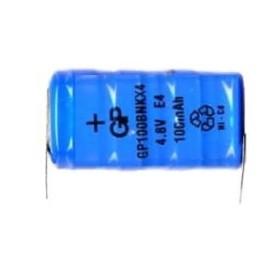 BATTERIA RICARICABILE NI-CD 4,8V 100mAh C.S.