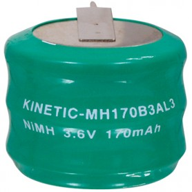 BATTERIA RICARICABILE Ni-Mh 3,6V 170mAh