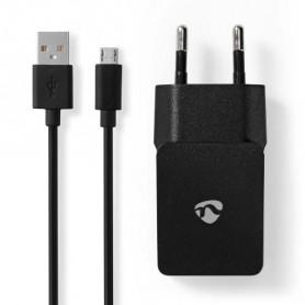 CARICABATTERIE 2,1A + CAVO MICRO USB NERO