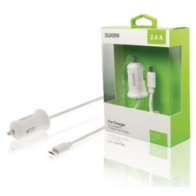 CARICABATTERIE DA AUTO 2.4 A Micro USB Bianco
