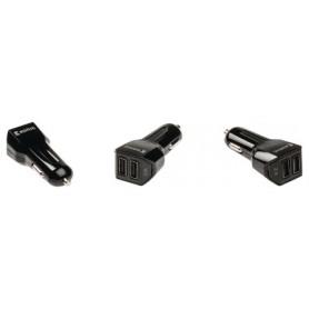 CARICABATTERIE PER AUTO 2-Outputs 3.1 A USB Nero