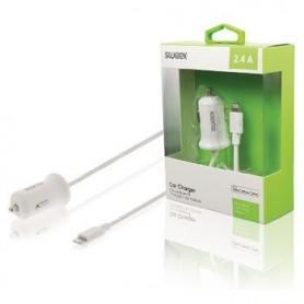 CARICABATTERIE PER AUTO 2.4 A Apple Lightning Bianco