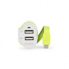 CARICABATTERIE PER AUTO 3-Outputs 6 A 2 x USB - Micro USB
