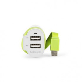 CARICABATTERIE PER AUTO 3-OUTPUTS 6A 2xUSB - USB-C™