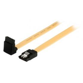 CAVO DATI SATA 6Gb-s SATA 7-PIN FEM.CON CLIP - SATA 7-PIN FEM.ANGOLATO A 270° CON CLIP 0,50mt giallo