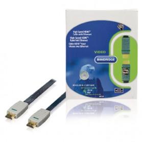 CAVO HDMI HIGH SPEED CON ETHERNET PIATTO 20mt RISOLUZIONE 3840x2160