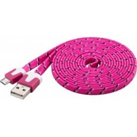 CAVO USB 2.0 MICRO USB TELATO 2 mt ROSA