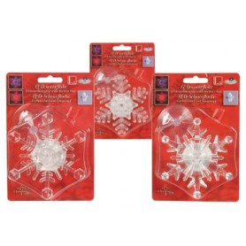 CHRISTMAS SNOW FLAKE 1 LED 24 pcs
