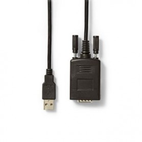 CONVERTITORE DA USB A MASCHIO a RS232 MASCHIO USB 2.0 CAVO DA 0,9mt