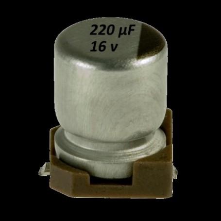 Elettrolittico 220 µf - 16 V SMD