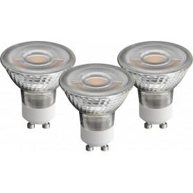 FARETTI A LED GU10 5W BIANCO CALDO CONF. 3 PZ