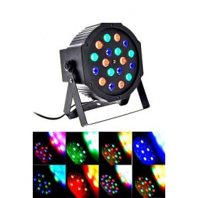 FARO STROBO RGB A 18 LED 18W PROGRAMMABILE
