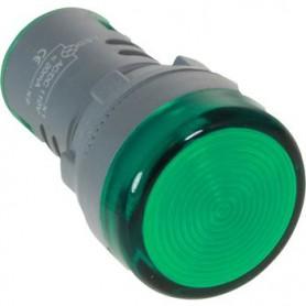 INDICATORE DA PANNELLO 22mm Verde 12V