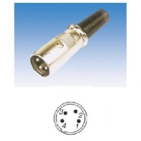JR 2903-4 - SPINA MICROFONICA XLR 4 POLI VOLANTE