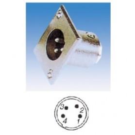 JR 2905-4 - SPINA MICROFONICA XLR 4 POLI DA PANNELLO