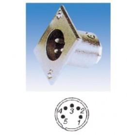 JR 2905-5 - SPINA MICROFONICA XLR 5 POLI DA PANNELLO