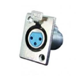 JR 2906-3 - PRESA MICROFONICA XLR 3 POLI DA PANNELLO