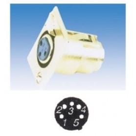 JR 2906-5 - PRESA MICROFONICA XLR 5 POLI DA PANNELLO