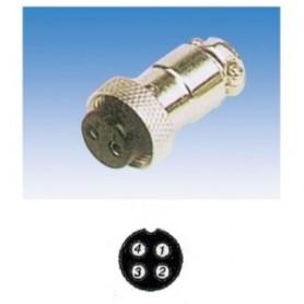 JR 2907-4 - PRESA MICROFONICA 4 POLI SCHERMATA VOLANTE