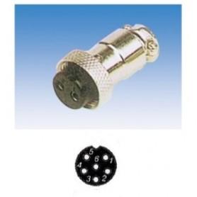 JR 2907-6 - PRESA MICROFONICA 6 POLI SCHERMATA VOLANTE