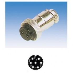 JR 2907-7 - PRESA MICROFONICA 7 POLI SCHERMATA VOLANTE
