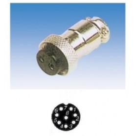 JR 2907-8 - PRESA MICROFONICA 8 POLI SCHERMATA VOLANTE