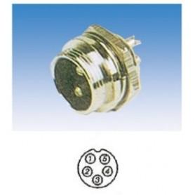JR 2908-5 - SPINA MICROFONICA 5 POLI SCHERMATA DA PANNELLO