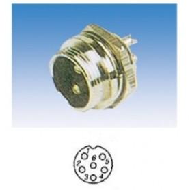 JR 2908-6 - SPINA MICROFONICA 6 POLI SCHERMATA DA PANNELLO