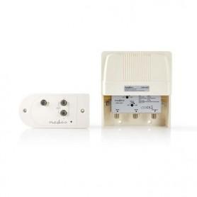 Kit AMPLIFICATORE PER INSTALLAZIONE ANTENNE VHF-UHF GUADAGNO MAX 35dB