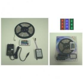 KIT STRISCIA LED FLESSIBILE SILICONATA 300 LED SMD 5050 RGB 5 MT