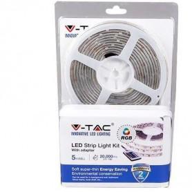 KIT STRISCIA LED SMD5050 30 LEDs RGB IP65 + ALIMENTATORE + TELECOMANDO