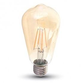 LAMPADINA AMBRATA E27 8W 2200K LUCE CALDA
