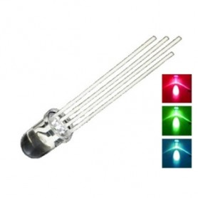 LED 05 mm TRICOLORE BIANCO ( 4 pin )