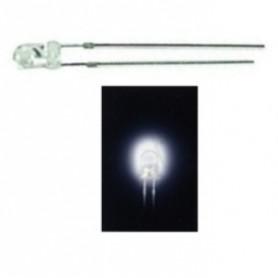 LED 3 mm  BIANCO FREDDO TRASPARENTE SUPER LUMINOSO