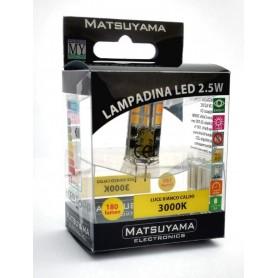 LED LAMP - 2,5W - G4 - 3000°K - BIANCO CALDO - CLASSE A+ 170Lm SILICONE