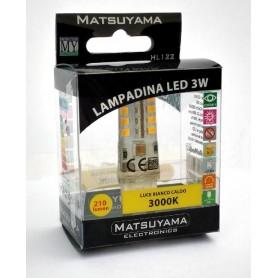 LED LAMP - 3W - G9 - 3000°K - BIANCA CALDA - CLASSE A+ 200Lm SILICONE