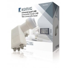 LNB QUAD UNIVERSALE 0.2 dB PER 4 TV