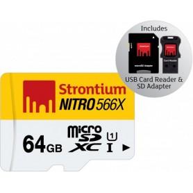 MICRO SD DA 64GB CON ADATTATORE USB e SD