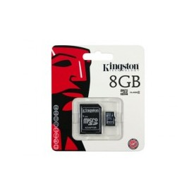 MICRO SECURE DIGITAL 8GB SDC4/8GB CLASS4 + ADATTATORE KINGSTON