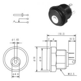MJ-12 - SPINA ALIMENTAZIONE DA PANNELLO DIAM. 4,0 X 1,7 MM
