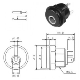 MJ-13 - SPINA ALIMENTAZIONE DA PANNELLO DIAM. 4,75 X 1,7 MM