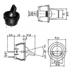 Potenziometro 6 mm Plastica Stereo Logar 2,2M
