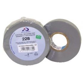 NASTRO ISOLANTE PVC GRIGIO ALTA QUALITA\' 0,19mm x 25mm x 20mt NITTO