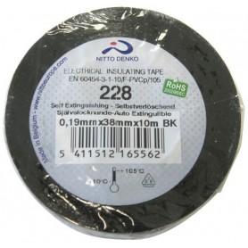 NASTRO ISOLANTE PVC NERO ALTA QUALITA\' 0,19mmX25mmX20mtNITTO