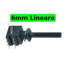 Potenziometro 6 mm Plastica Stereo Linea 220K