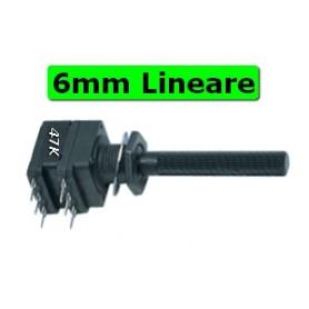 Potenziometro 6 mm Plastica Stereo Linea 47K