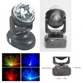 PROIETTORE LED RGB A TESTA ROTANTE CON USB - LSY080