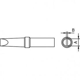 PUNTA PER SALDATORE PUNTA A SCALPELLO 2,4mm