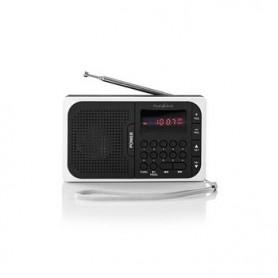 RADIO FM 3,6 W PORTA USB + SLOT PER SCHEDA microSD  Nero/Bianco
